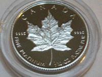 プラチナメイプルリーフコイン 1/10オンス プルーフ硬貨