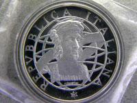 500リラ銀貨プルーフ